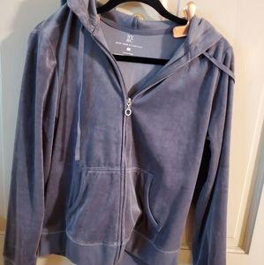 NY & Co. Sz L. Velour sweatshirt